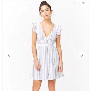 F21 linen blend cotton dress Small